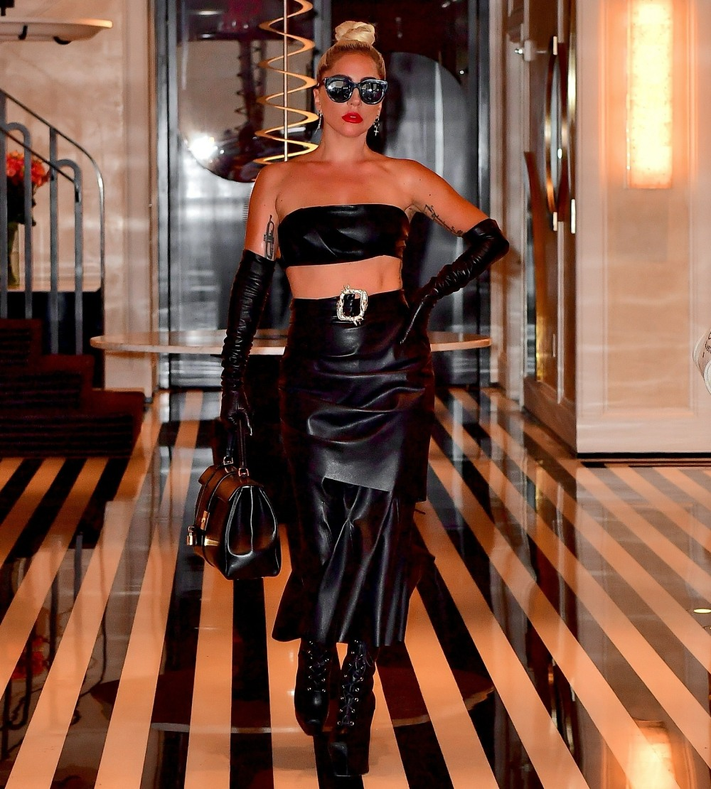 Lady Gaga steps out in black to perform at The Apollo in NYC