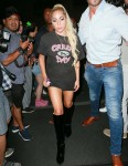 Lady Gaga returns to her hotel after performing at the Apollo theater