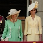 The royal family welcome Her Majesty Queen Elizabeth II back to Buckingham Palace  at Trooping the Colour on Saturday 8 June 2019