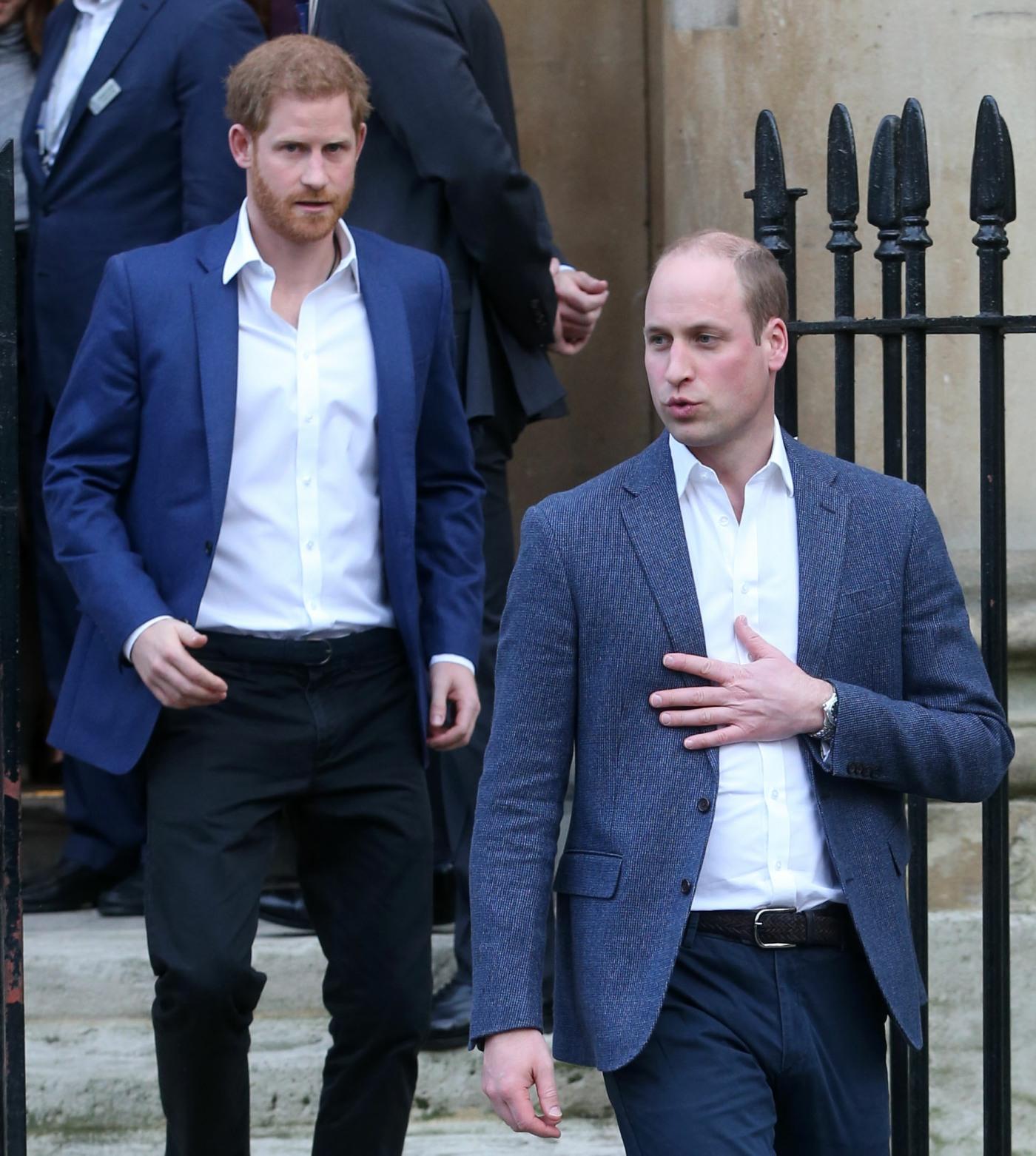 Prince Harry & William Met Yesterday