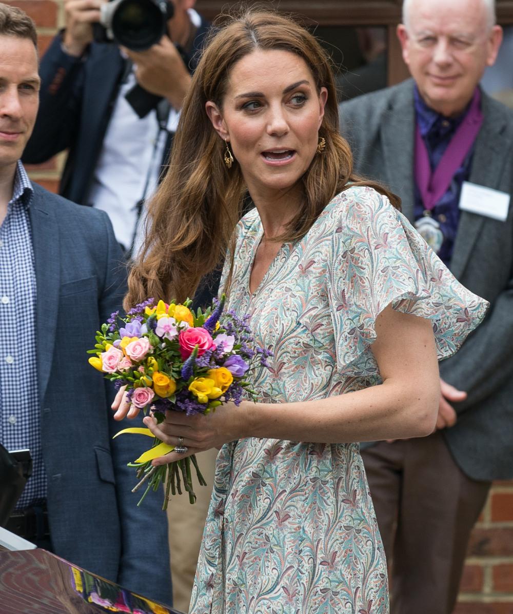 The Duchess of Cambridge leaves Warren Park Children's Centre