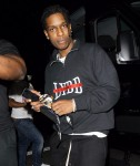 ASAP Rocky dashes out of Kelly Rowland's Halloween party at Poppy