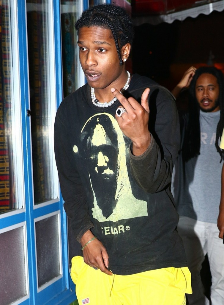 "ASAP Rocky celebrates his latest release ""Testing"""