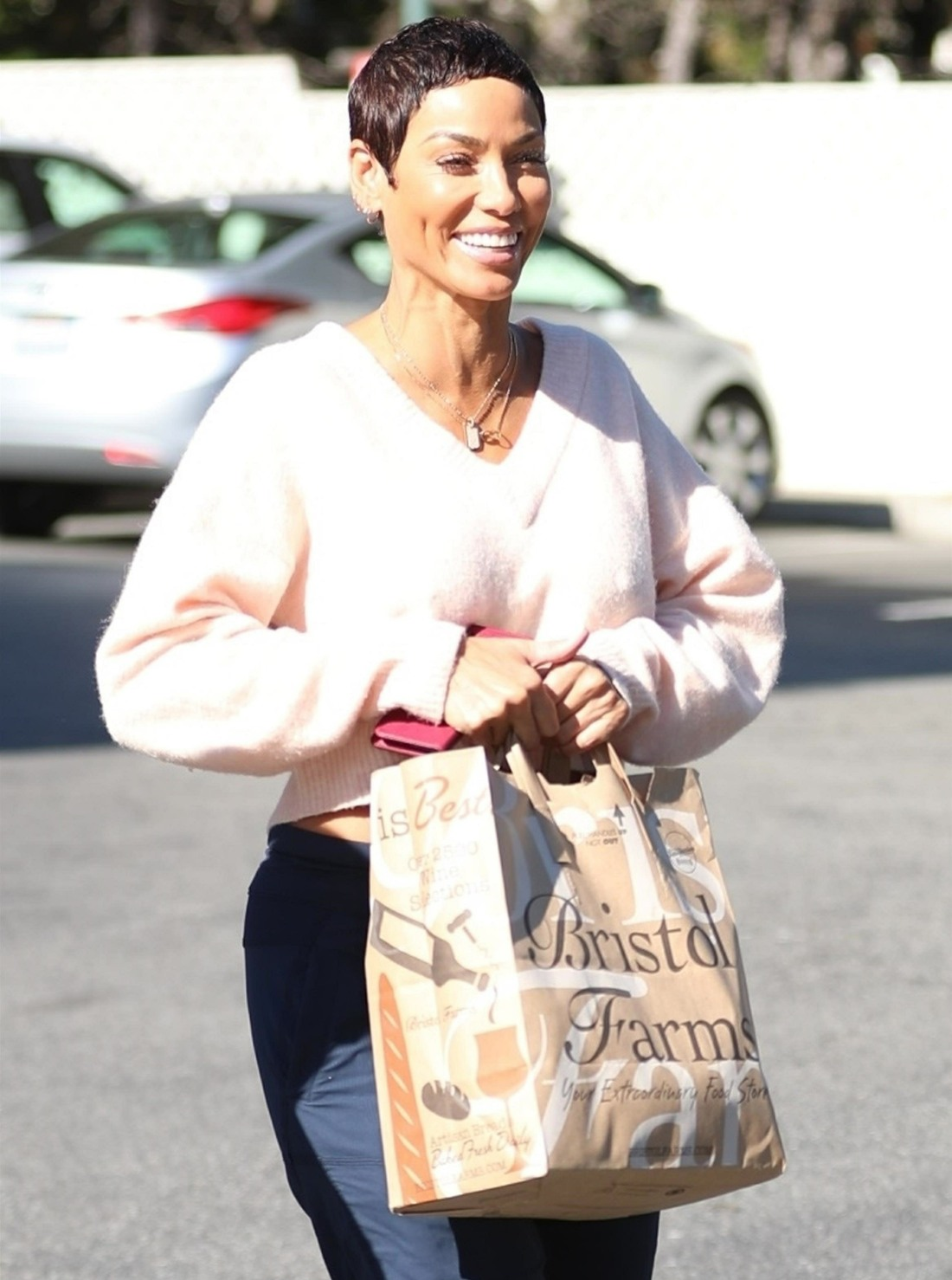 Nicole Murphy is all smiles at Bristol Farms in Beverly Hills