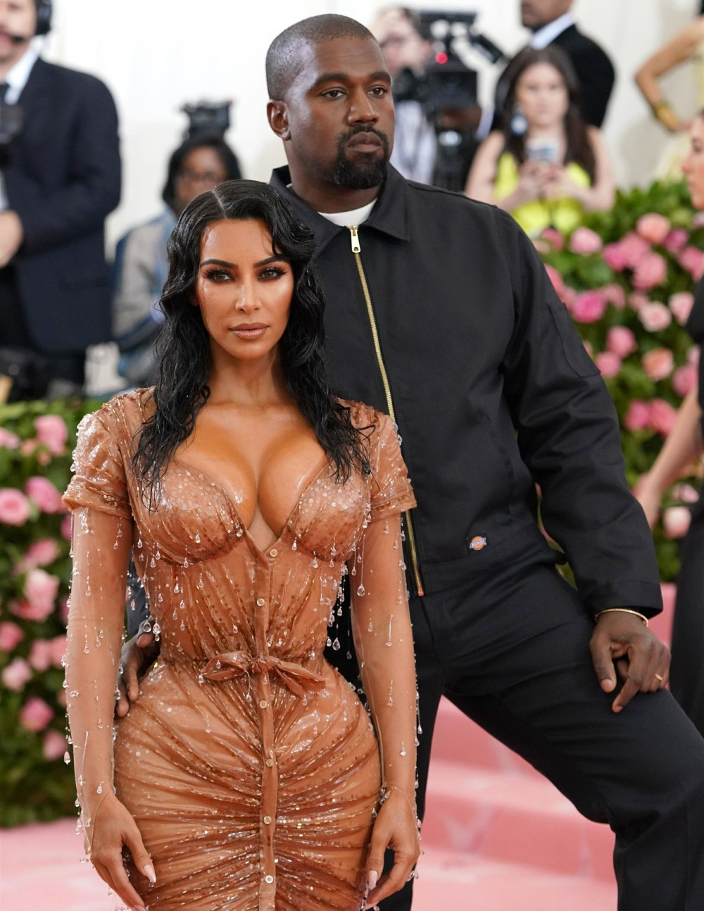 Kim Kardashian West and Kanye West arrive at the 2019 Met Gala in New York