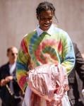 ASAP Rocky pictured outside Loewe during Paris Fashion Week