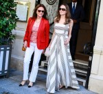 Angelina Jolie is seen leaving the Hotel de Crillon to go to Guerlain boutique