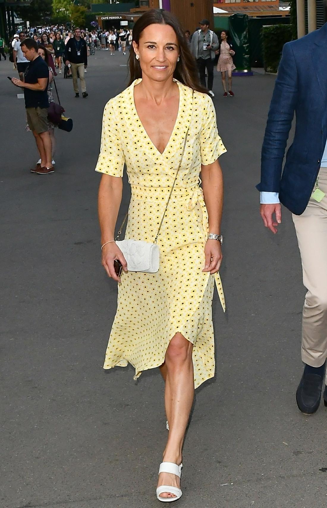 Pippa Middleton and James Matthews leaving Wimbledon after the men's semifinals