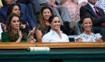 Kate Middleton, Meghan Markle and Pippa Middleton in the stands at the Wimbledon Women's Final to support Serena Williams!