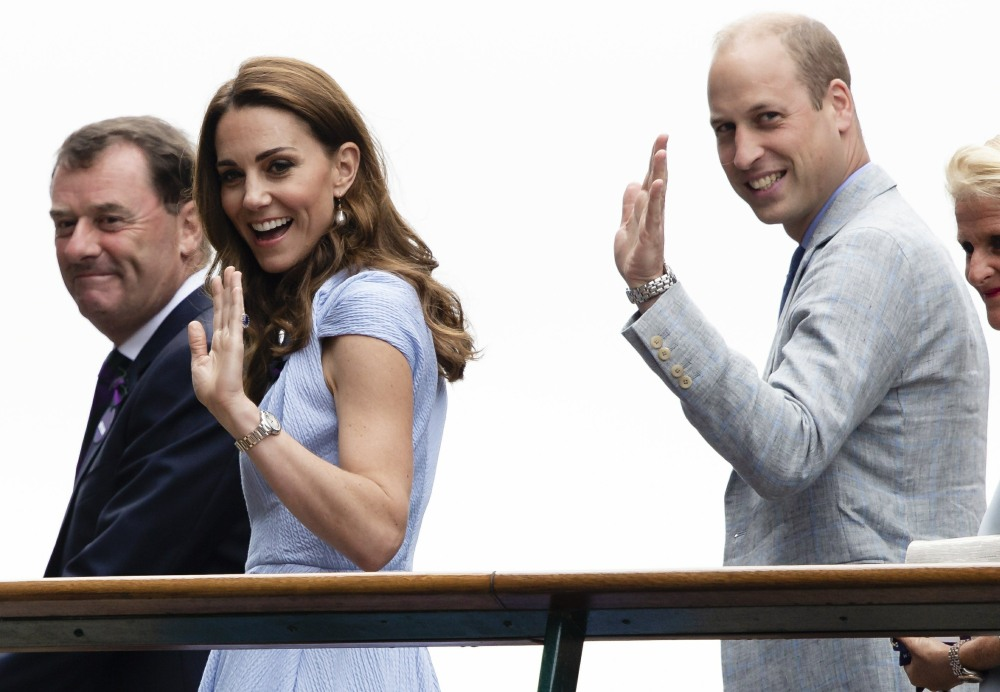 Royals are seen at the Men's Singles Final At Wimbledon Championships 2019