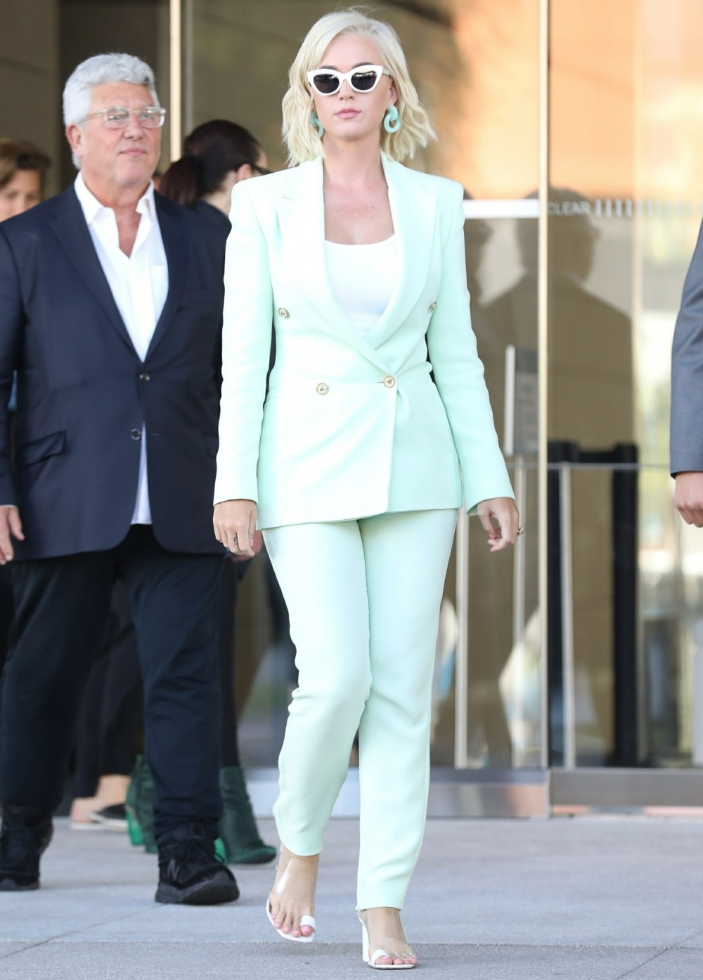 """Katy Perry is seen leaving court after being sued over her song """"Dark Horse"""""""