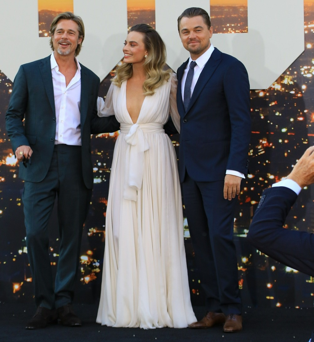 Brad Pitt, Margot Robbie and Leonardo DiCaprio at the premiere of 'Once Upon A Time...In Hollywood'