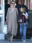 Angelina Jolie runs errands with her daughter at Petco