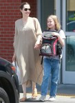 Angelina Jolie leaves Petco with her happy daughter an a pet