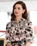 Anne Hathaway WOF Star Ceremony