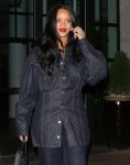 Rihanna shares her pretty smile after dinner in New York