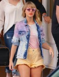 Taylor Swift seen in a colorful outfit in NY