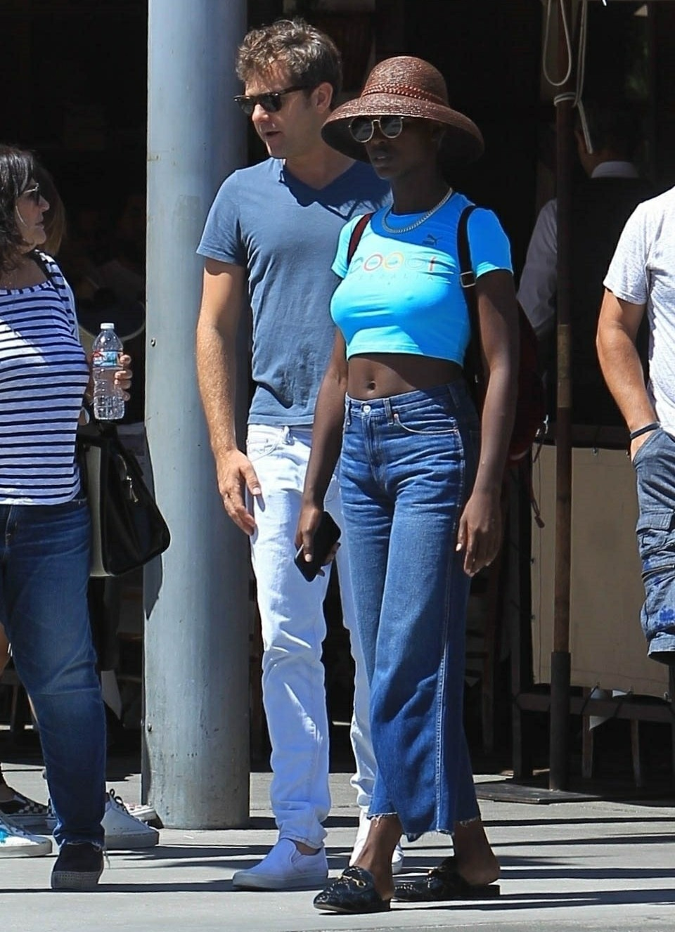 Joshua Jackson joins Jodie Turner-Smith for a lunch date in Beverly Hills