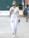 Gigi Hadid looks great in white while taking a stroll in NYC