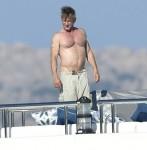 Sean Penn and his girlfriend Leila George are seen in Sardinia