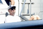 Leonardo DiCaprio enjoys a day at sea with Girlfriend Camila Morrone while vacationing in Sardinia!