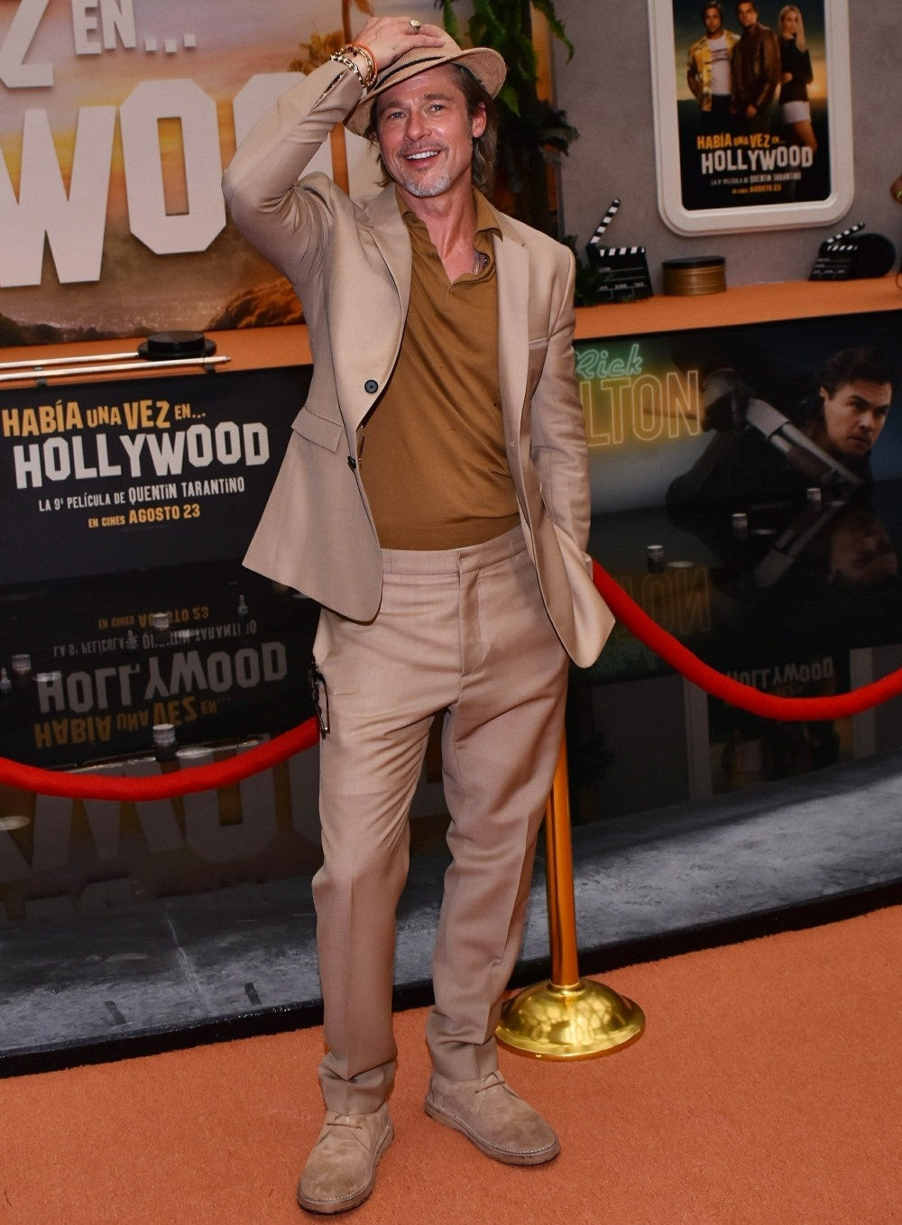 Brad Pitt seen during the premiere of 'Once Upon a Time in... Hollywood' in Mexico