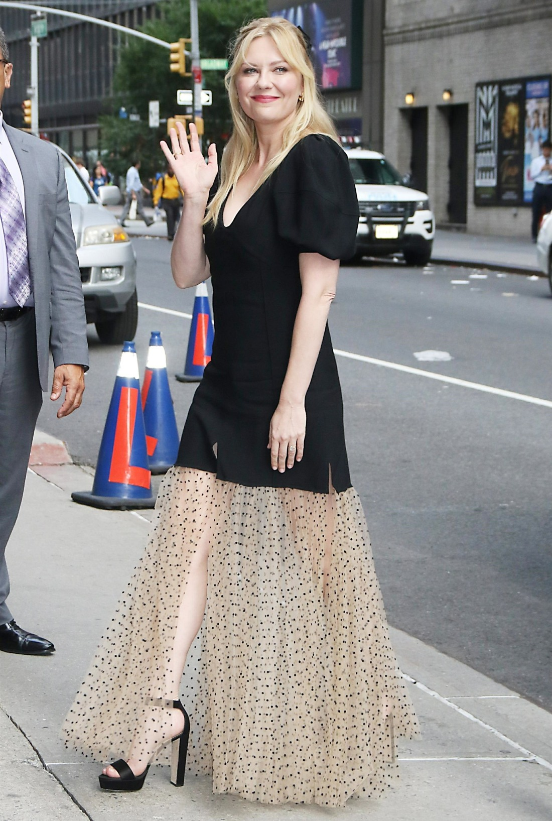 Kirsten Dunst at The Late Show with Stephen Colbert