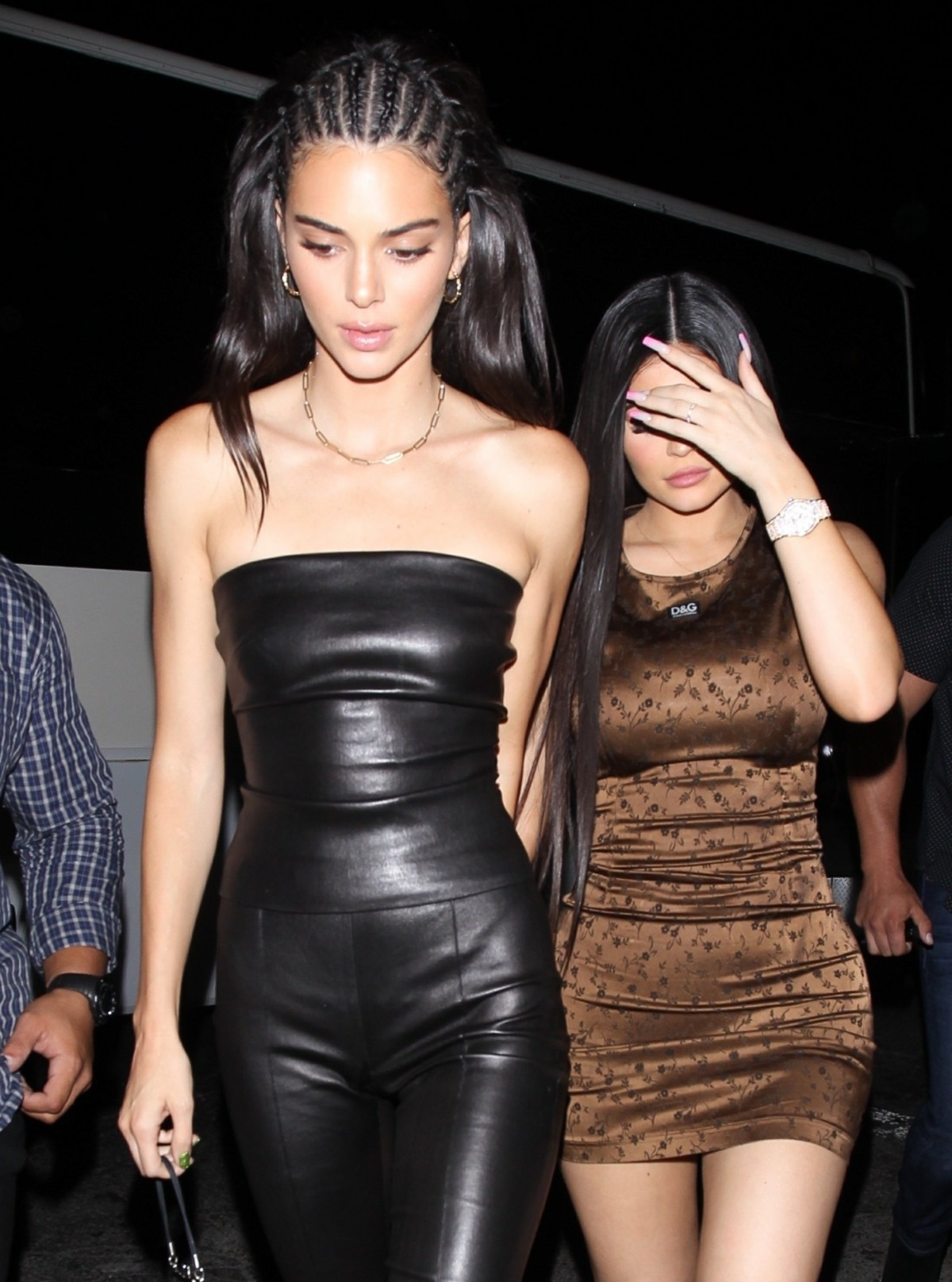Kylie Jenner and Kendall Jenner spotted arriving at The Nice Guy