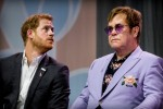 Prince Harry, Duke of Sussex, and Elton John during the International Aids Conference on July 23, 2018 in Amsterdam, Netherlands. (Photo by Patrick van Katwijk/Getty Images) |