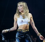 Miley Cyrus performs on the Pyramid stage at Glastonbury Festival 2019 on Sunday 30 June 2019