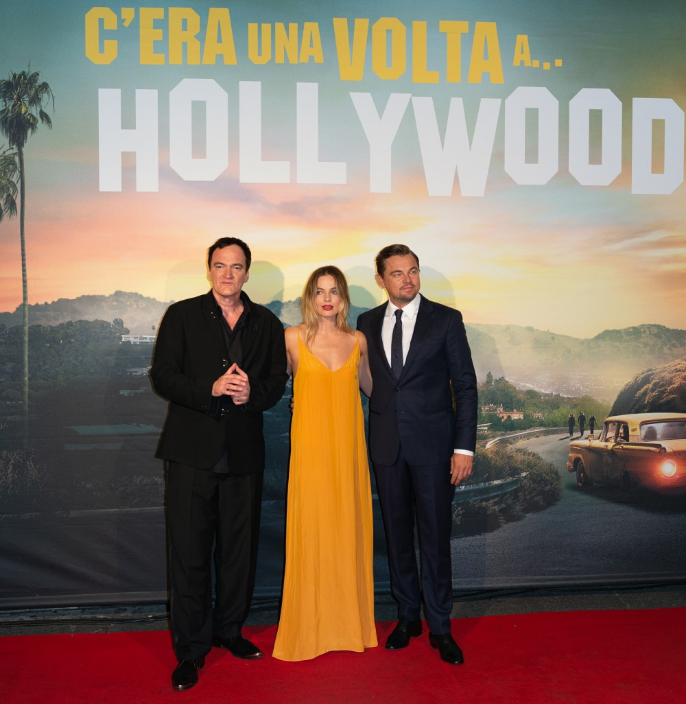Once Upon A Time In Hollywood premiere in Rome, Italy