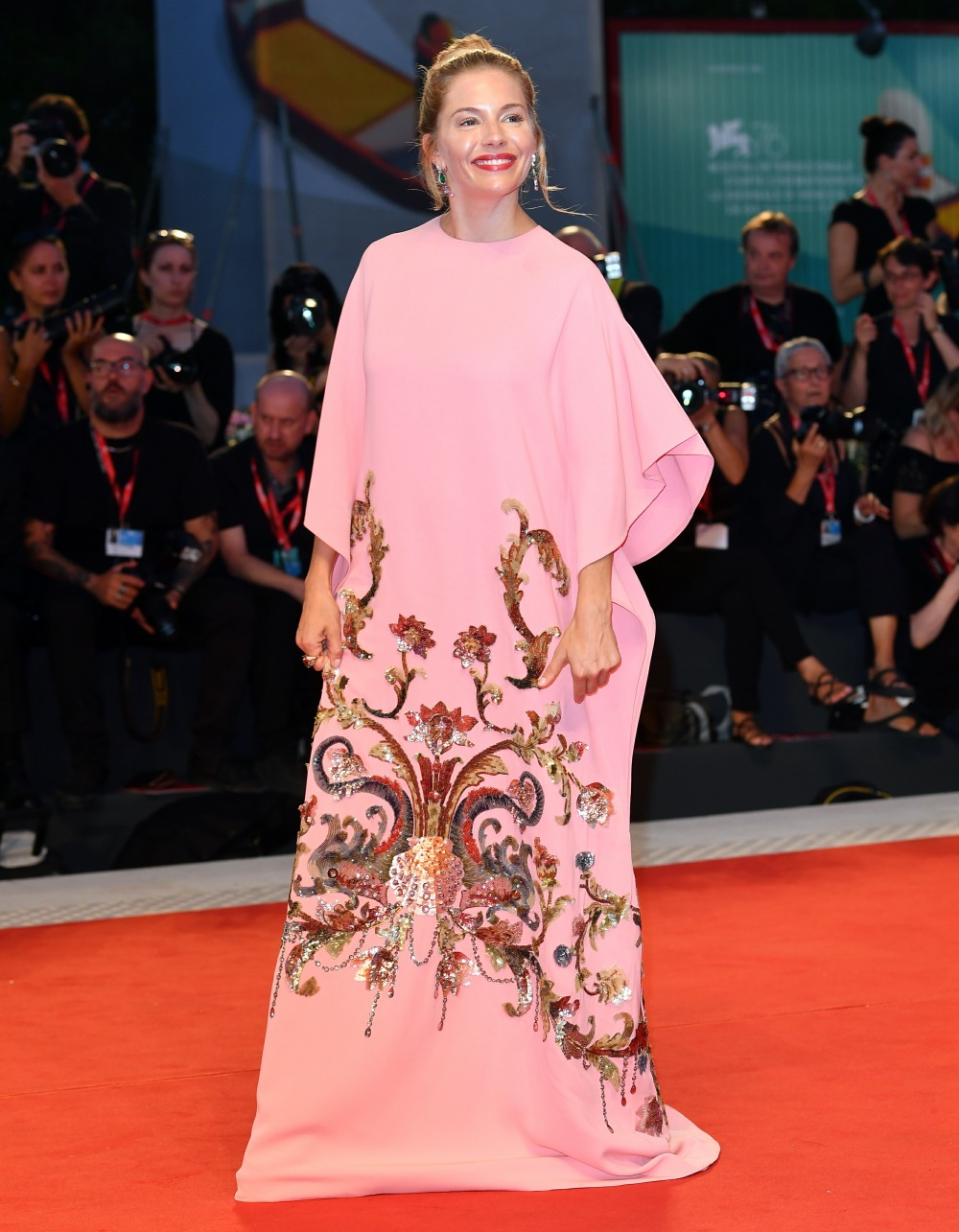 Sienna Miller during the Red carpet of Kineo Award at the 76th Venice Film Festival, Venice, ITALY-01-09-2019