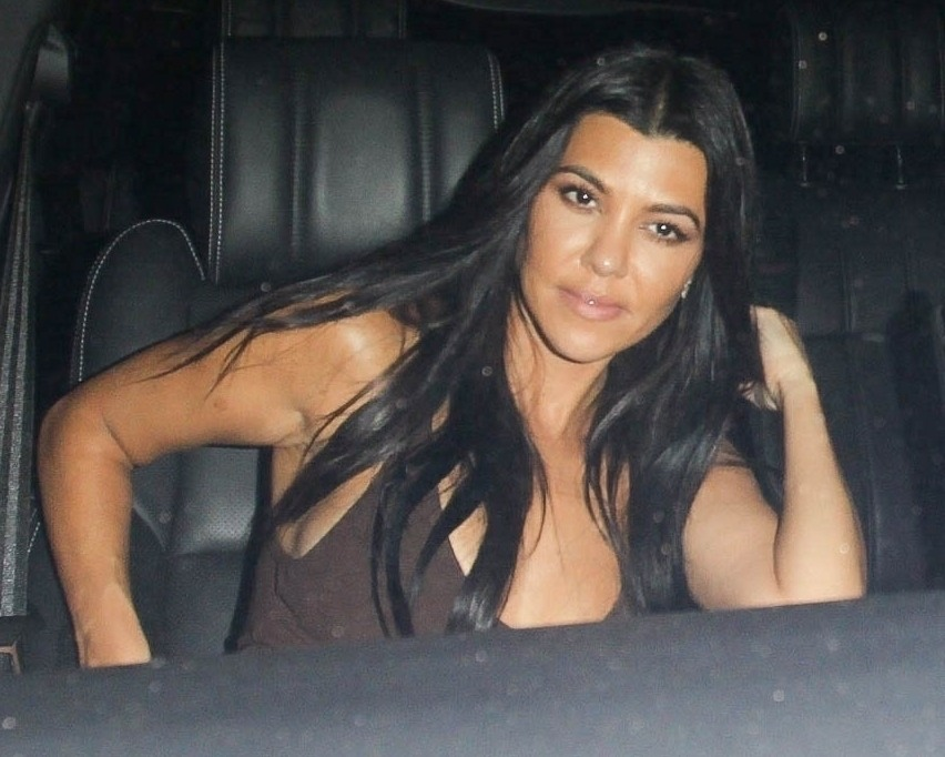 Kourtney Kardashian is spotted leaving the same event as Exes Younes Benjima and Sabbat