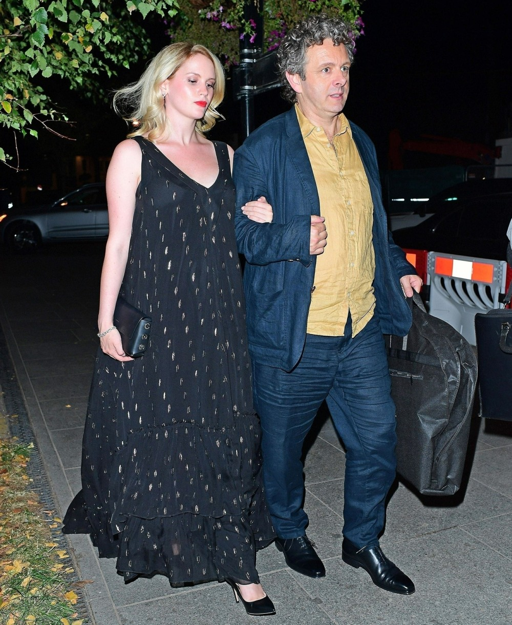 Michael Sheen and girlfriend Anna Lundberg leaving the GQ Awards