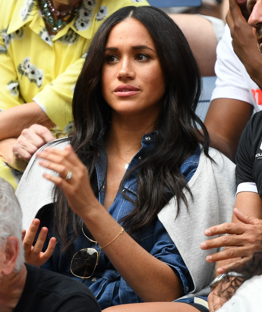 Meghan Markle watching Serena Williams Vs Bianca Andreescu at the 2019 US Open