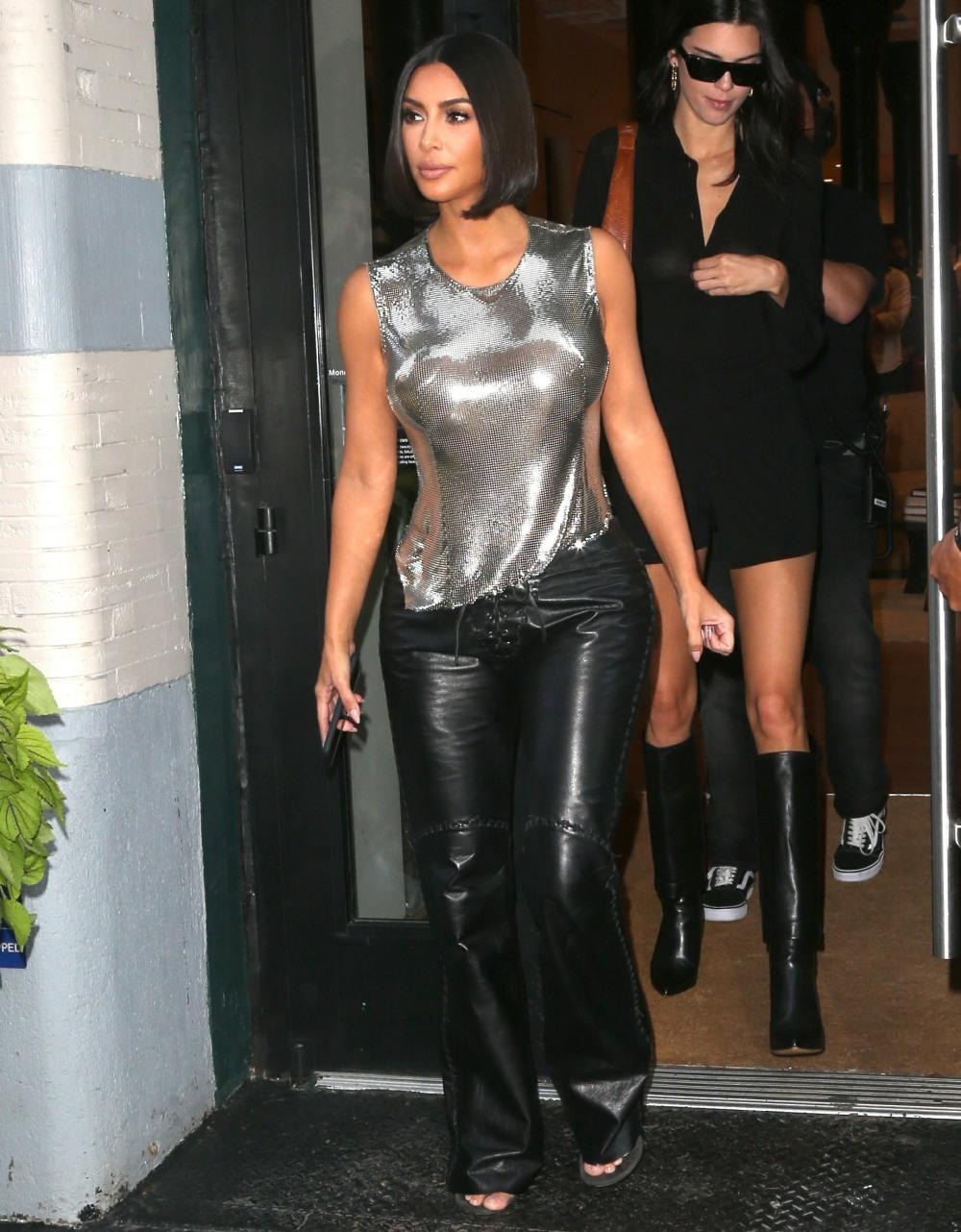 Kim Kardashian, Kendall Jenner, and Jonathan Cheban go shopping during NYFW