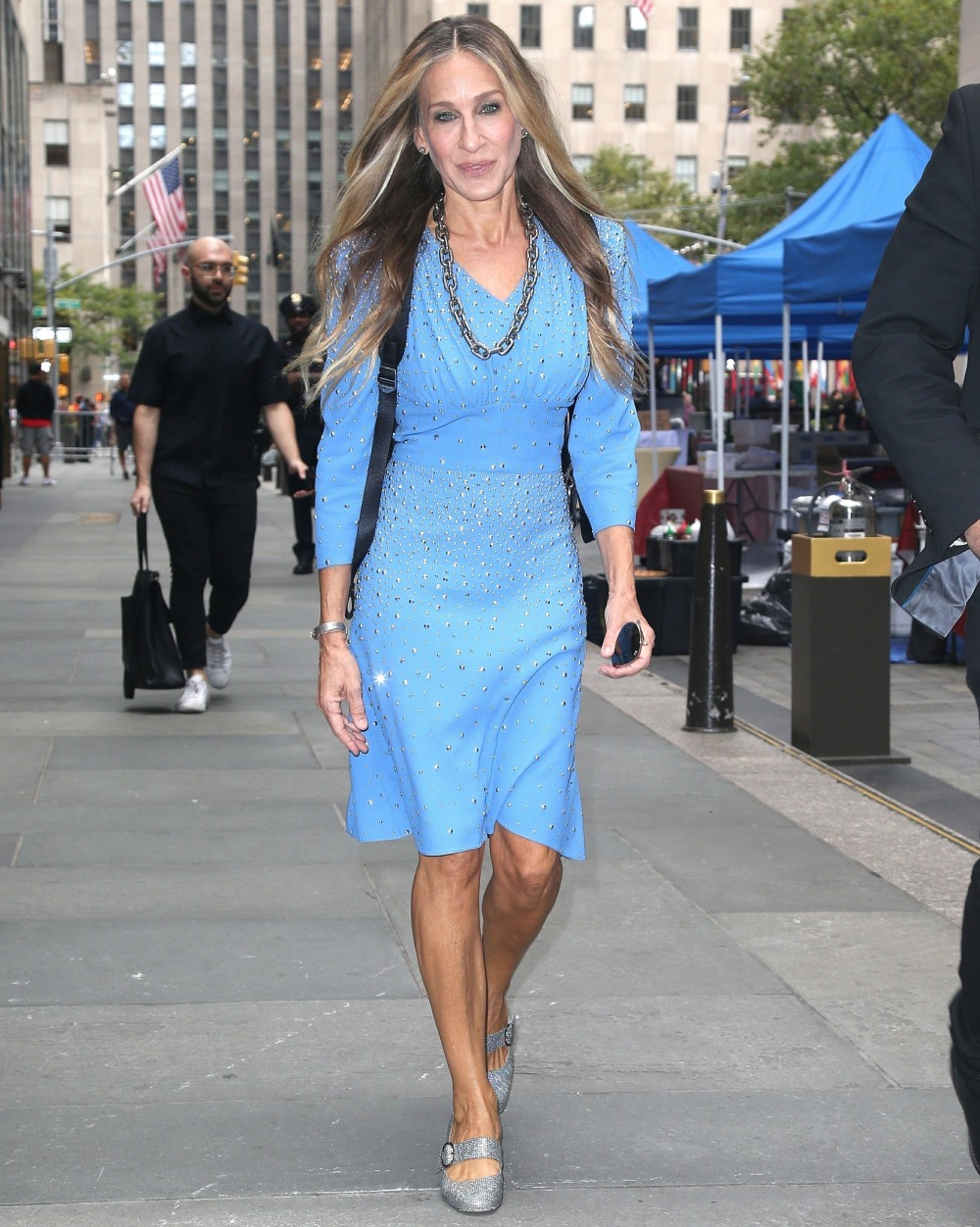Sarah Jessica Parker leaves 'The Today Show' in New York