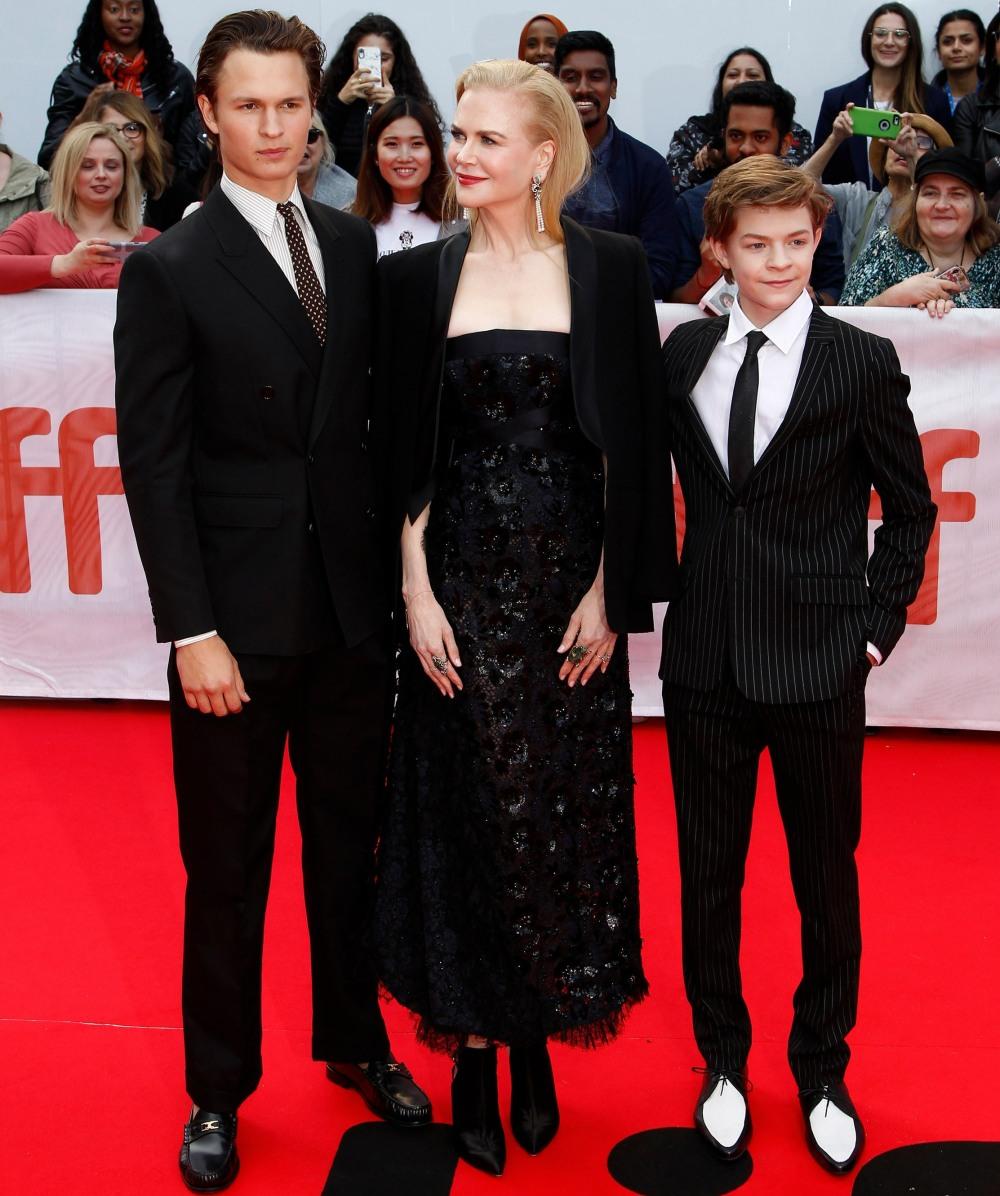 Ansel Elgort, Nicole Kidman, Oakes Fegle...