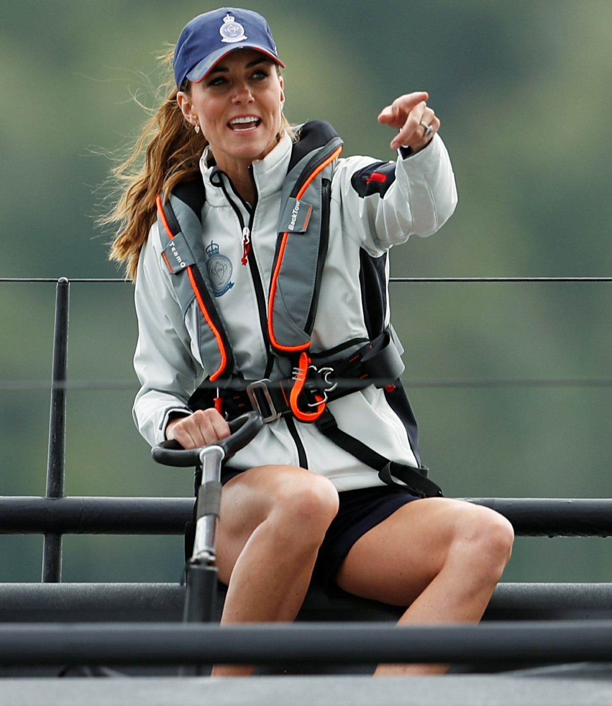 Catherine Duchess of Cambridge attends the King's Cup Regatta in Isle of Wight
