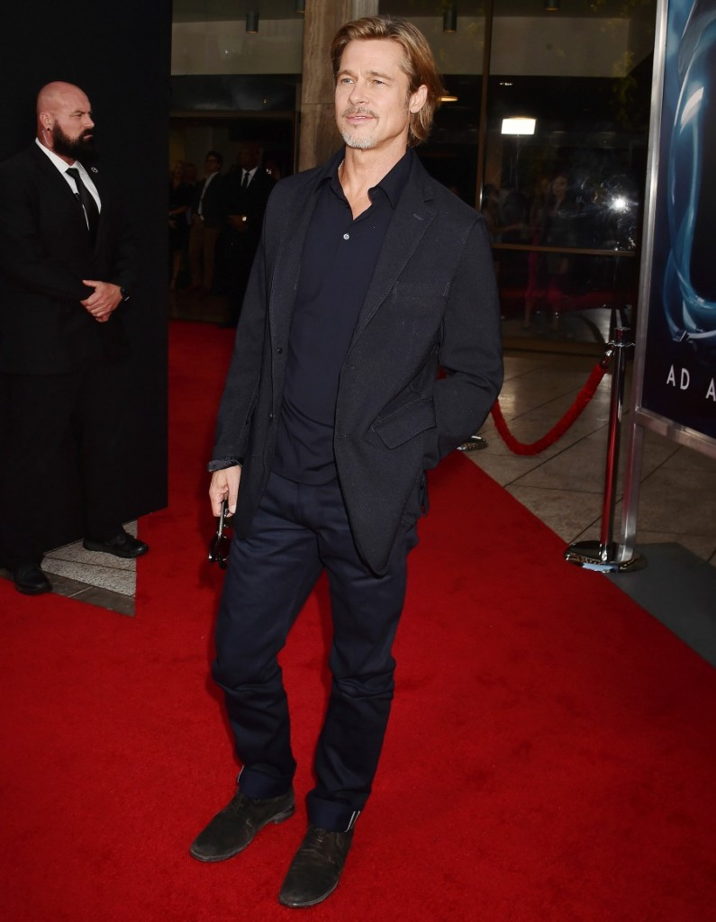 """Brad Pitt at the premiere of 20th Century Fox's """"Ad Astra"""" at The Cinerama Dome in Los Angeles"""