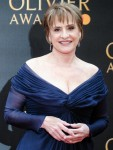 Patti LuPone poses on the red carpet at the Olivier Awards on Sunday 7 April 2019