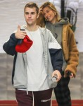 Justin Bieber and Hailey Baldwin leave their hotel as they head to a meeting