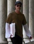 Brad Pitt is seen out visiting the Biennale in Venice