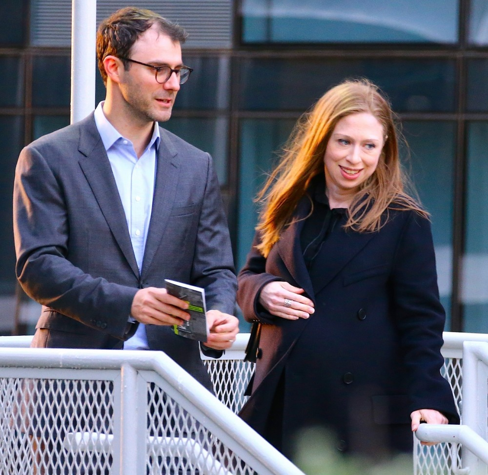 Chelsea Clinton is mom for the third time with Husband Marc Mezvinsky! **FILE PHOTOS**