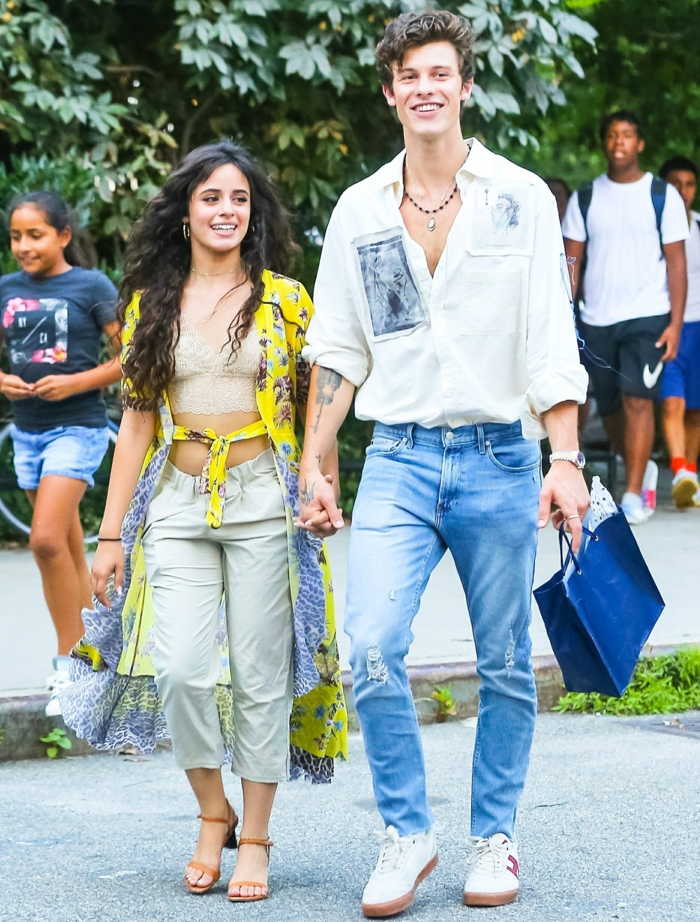Camila Cabello and Shawn Mendes are a happy pair after a birthday dinner at Dumbo House