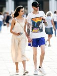 Pete Davidson and Margaret Qualley hold hands while out for a stroll in Venice