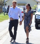 The Duke and Duchess of Sussex Prince Harry and Meghan seen arriving at a Nyanga township