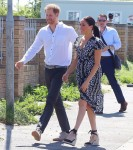 Harry and Meghan touched down in Cape Town this morning after an overnight BA flight from London