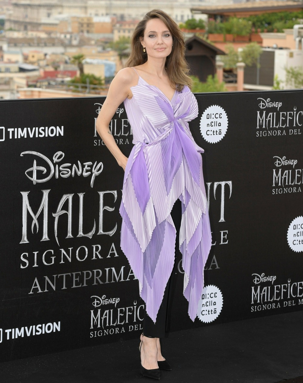 "US actress Angelina Jolie and Michelle Pfeiffer attend the photocall of the movie ""Maleficent – Mistress Of Evil"""