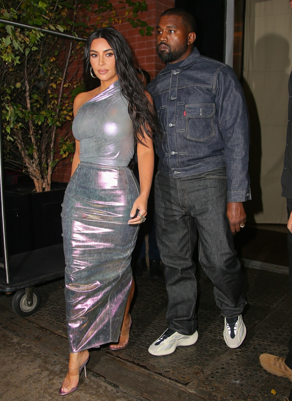 Kim Kardashian looks stunning in silver heading to the Night of Stars Gala with Kanye West